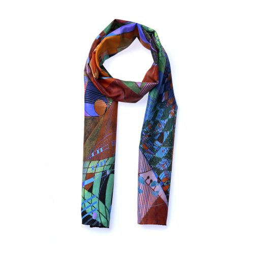 TAISIR GIBREEL DESIGNER LUXURY SILK SCARF MADE IN THE UK