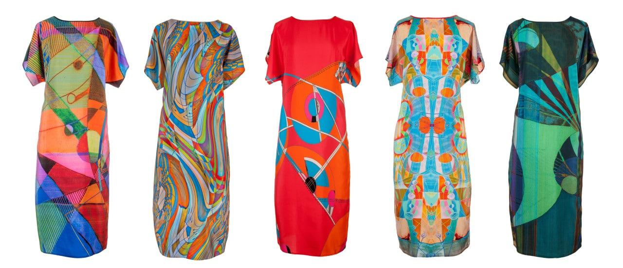 TAISIR GIBREEL DESIGNER LUXURY SILK DRESSES MADE IN THE UK