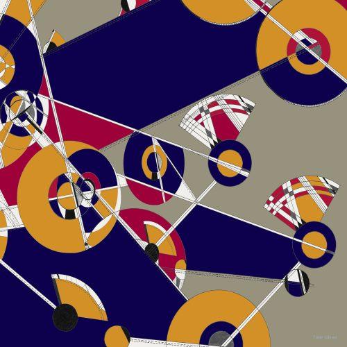 TAISIR GIBREEL DESIGNER LUXURY SILK SCARF MADE IN THE UK
