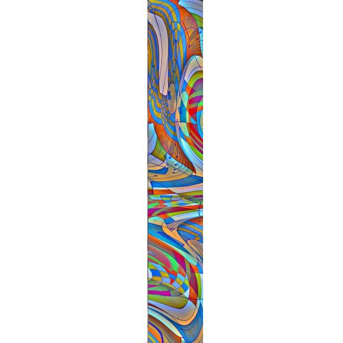 LUXURY SILK SCARF SILVER DEW WAVE 20cm x 175cm | TAISIR GIBREEL