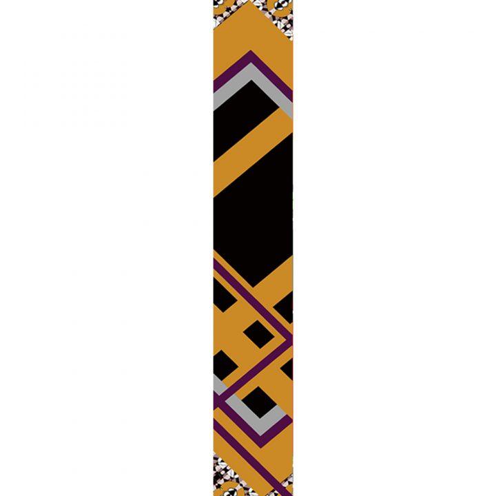 LUXURY SILK SCARF CULTURE MIX ABSTRACT 20cm x 175cm   TAISIR GIBREEL