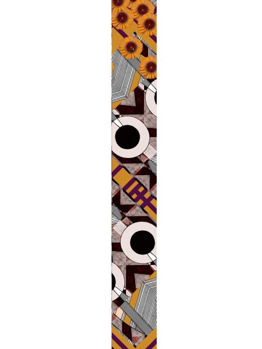 LUXURY SILK SCARF CULTURE MIX DISCUS 20cm x 175cm | TAISIR GIBREEL