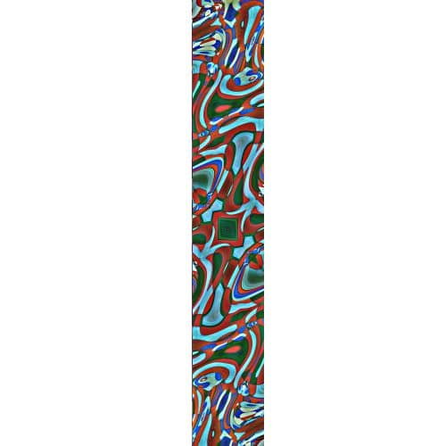 LUXURY SILK SCARF SILVER DEW MOSAIC 20cm x 175cm | TAISIR GIBREEL