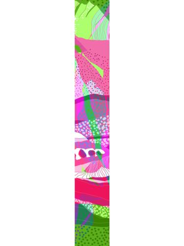 LUXURY SILK SCARF MUNRO BLOSSOM CHAOS 20cm x 175cm | TAISIR GIBREEL
