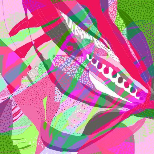 LUXURY SILK SCARF MUNRO BLOSSOM CHAOS 135cm x 135cm   TAISIR GIBREEL