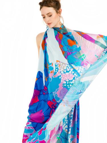 Luxury Summer Silk Square Scarves