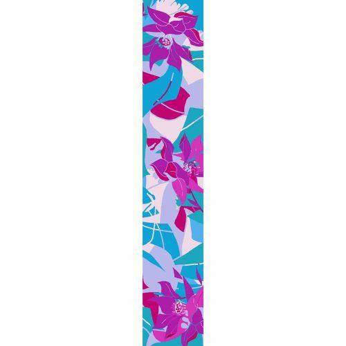 LUXURY SILK SCARF SILVER DEW SPRING 20cm x 175cm | TAISIR GIBREEL