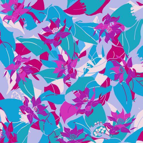 LUXURY SILK SCARF SILVER DEW SPRING 135cm x 135cm | TAISIR GIBREEL