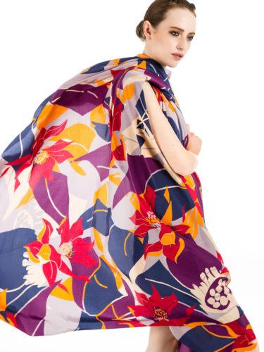 Luxury Autumnal Silk Square Scarves