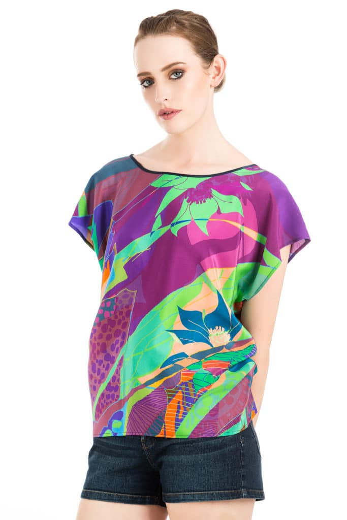Taisir Gibreel Luxury Silk Top