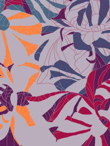 LUXURY SILK SCARF MOODY LOCH ORCHID 135cm x 135cm | TAISIR GIBREEL
