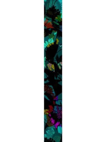 LUXURY SILK SCARF SILVER DEW FOLIAGE 20cm x 175cm | TAISIR GIBREEL