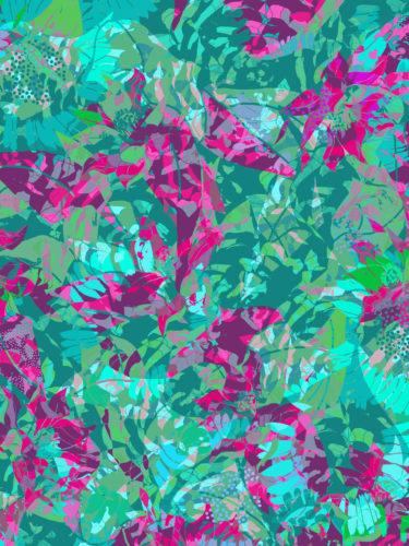 LUXURY SILK SCARF SPRING BURST GREEN 135cm x 135cm | TAISIR GIBREEL