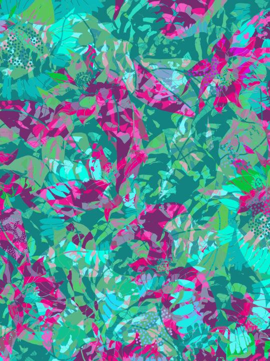 LUXURY SILK SCARF SPRING BURST GREEN 135cm x 135cm   TAISIR GIBREEL