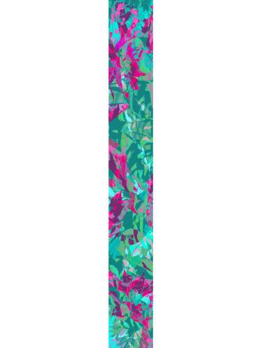 LUXURY SILK SCARF SPRING BURST GREEN 20cm x 175cm | TAISIR GIBREEL