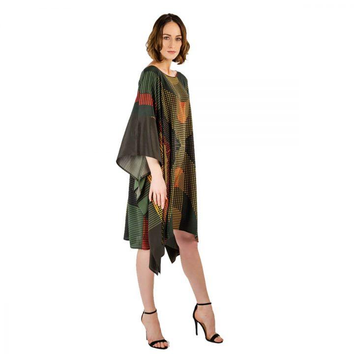 Taisir Gibreel Silk Kaftans Rolling Green Thistle