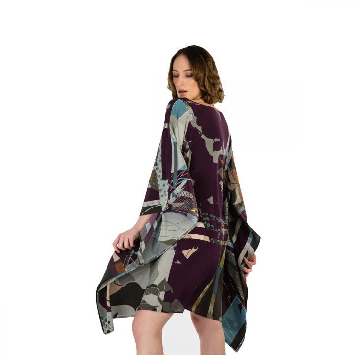 Taisir Gibreel Silk Kaftan Rolling Green Weave