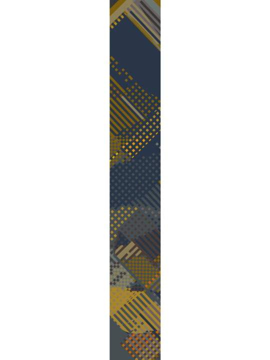 LUXURY SILK SCARF ROLLING GREEN MEADOW 20cm x 175cm | TAISIR GIBREEL