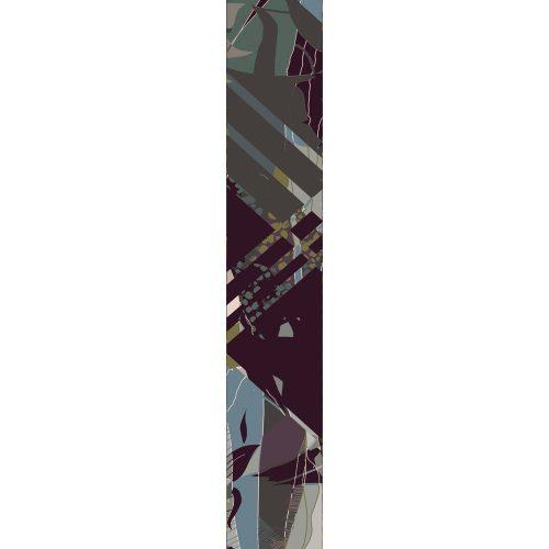 LUXURY SILK SCARF ROLLING GREEN WEAVE 20cm x 175cm | TAISIR GIBREEL