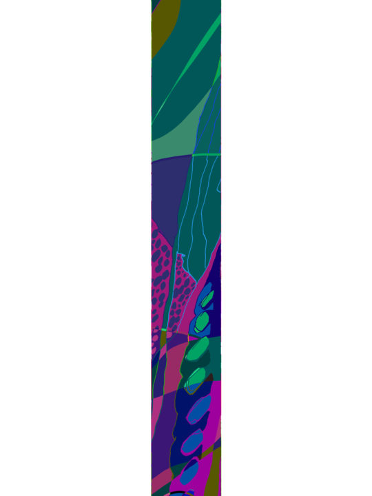 LUXURY SILK SCARF SILVER DEW ARTEMIS 20cm x 175cm | TAISIR GIBREEL