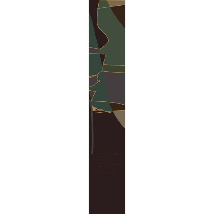 LUXURY SILK SCARF ROLLING GREEN MUSE 20cm x 175cm | TAISIR GIBREEL