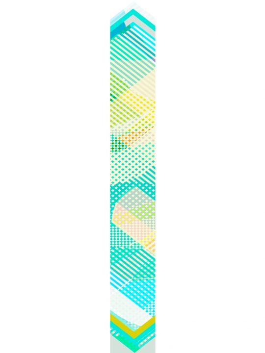 LUXURY SILK SCARF SPRING BURST MUSE 20cm x 175cm | TAISIR GIBREEL