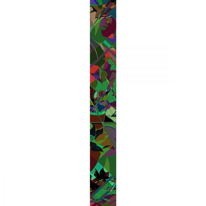 LUXURY SILK SCARF MOODY LOCH CHAOS 20cm x 175cm | TAISIR GIBREEL