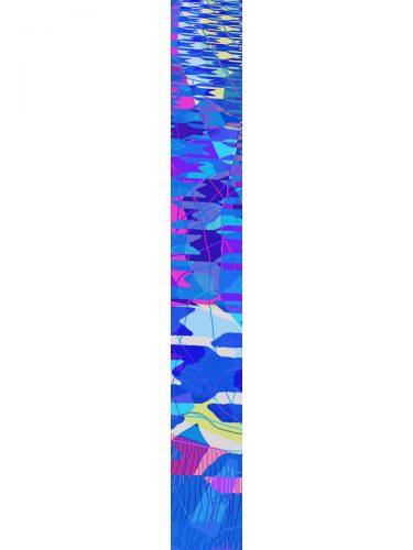 LUXURY SILK SCARF SILVER DEW HOUNDSTOOTH 20cm x 175cm | TAISIR GIBREEL