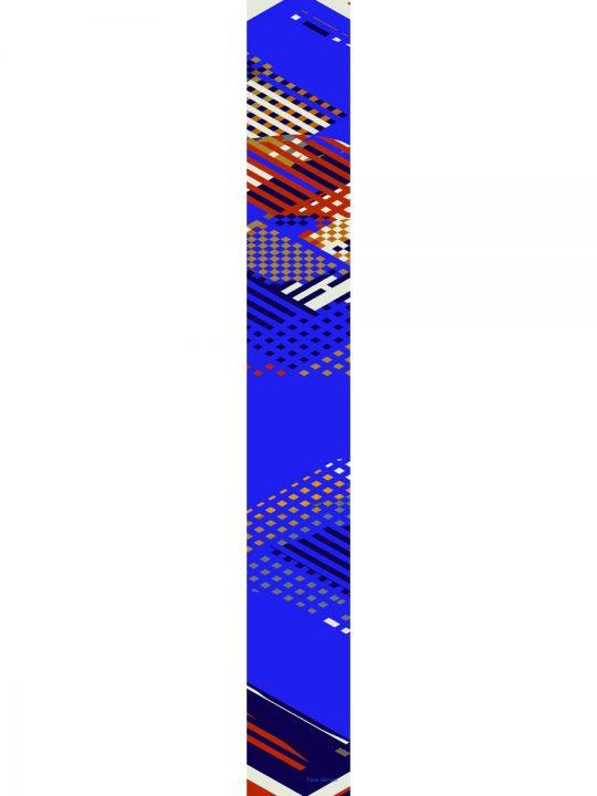 LUXURY SILK SCARF SILVER DEW RED 20cm x 20cm | TAISIR GIBREEL