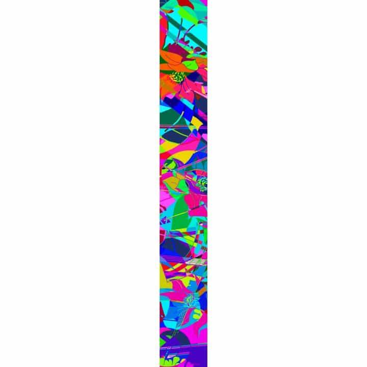 LUXURY SILK SCARF SPRING BURST COLOUR 20cm x 175cm | TAISIR GIBREEL