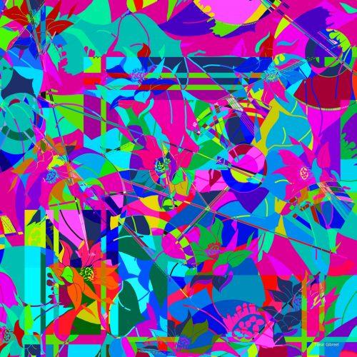 Spring Burst Colour Silk Scarf | TAISIR GIBREEL