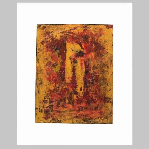 Taisir Gibreel Abstract Art Fallen Gold