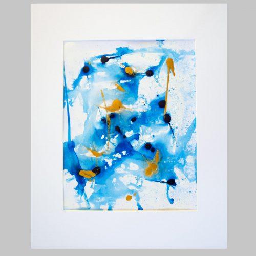 Taisir Gibreel Abstract Art Golden Spray
