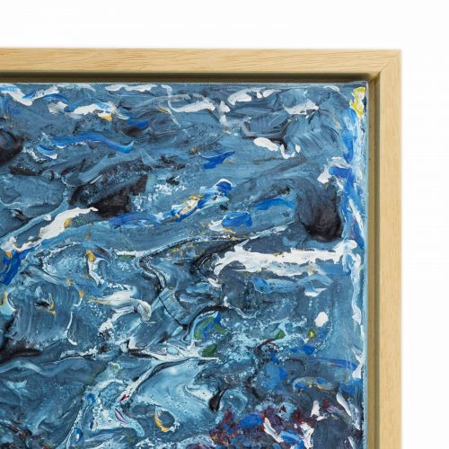 TAISIR GIBREEL ABSTRACT ART CRASHING WAVES