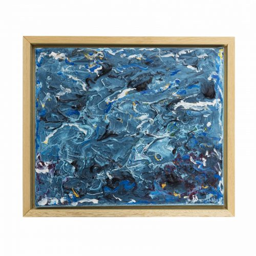 TAISIR GIBREEL ABSTRACT ART WAVES CRASHING