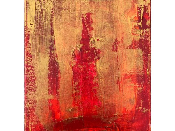 Taisir Gibreel Abstract Art Crimson