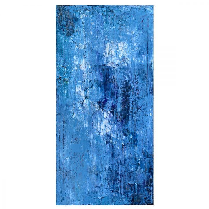 Taisir Gibreel Abstract Art Through Blue Mist