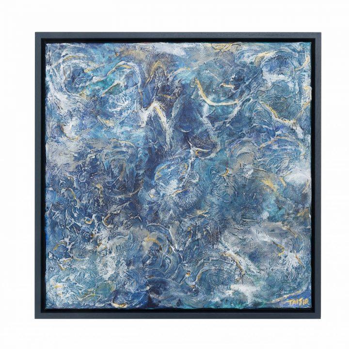 TAISIR GIBREEL ABSTRACT ART BENEATH BLUE MIST
