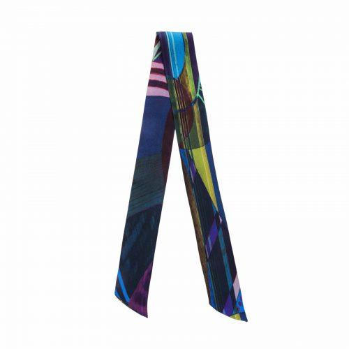 Taisir Gibreel Silk Ribbon Silver Dew Rainbow